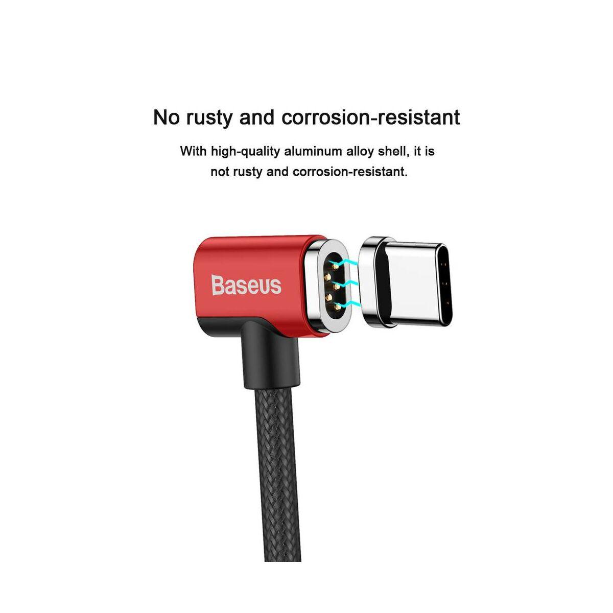 Baseus Mágneses kábel, Type-C - Type-C töltős Laptophoz max 86W, 4.3A, 1.5m, piros/fekete (CATBL-91)