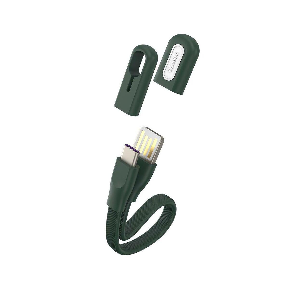 Baseus Karkötő kábel Type-C - USB-A 0.22m 3A, zöld (CATFH-06B)