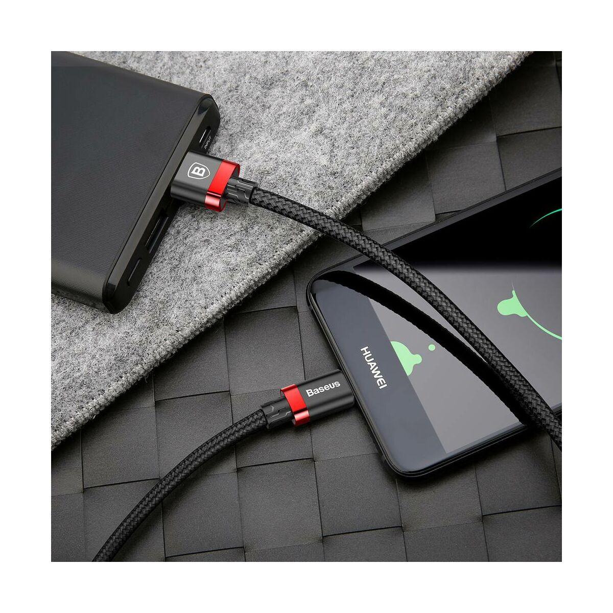 Baseus Type-C kábel, Golden Belt Series prémium USB3.0 kábel, 3A, 1m, fekete/piros (CATGB-19)
