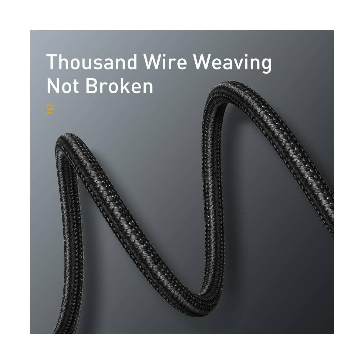 Baseus Type-C kábel, Halo jelzőfény, adatkábel, PD2.0 60W (20V 3A) 0.5m, fekete (CATGH-I01)