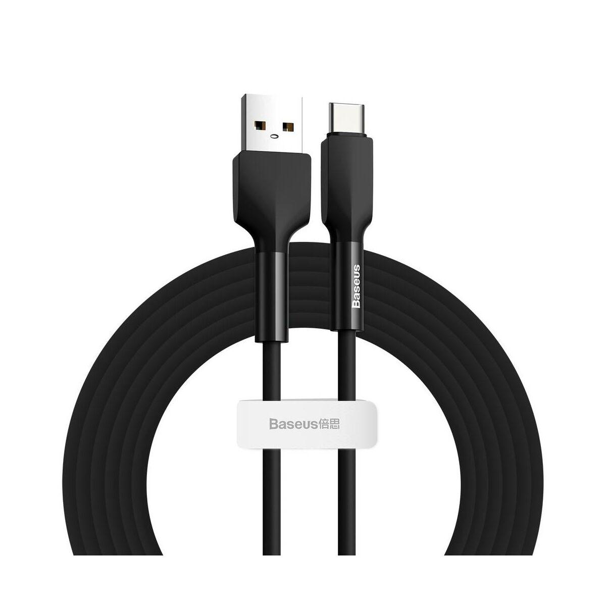 Baseus Type-C Szilikon kábel 2A, 2m, fekete (CATGJ-A01)