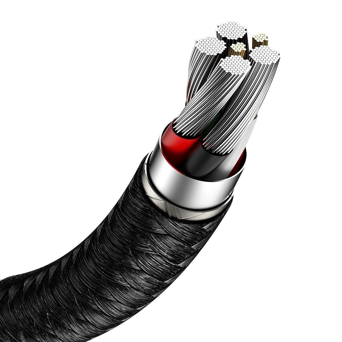 Baseus Type-C kábel, Cafule Series, gyorstötlő és adatkábel, 40W, 5A, 0.25m, fekete (CATJK-01)