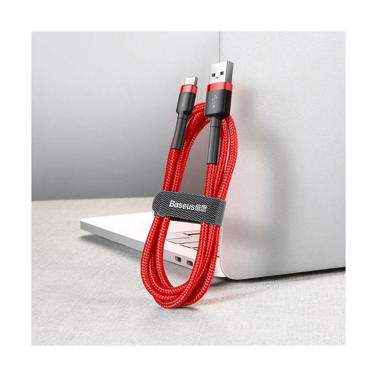 Baseus Type-C kábel, Cafule, 2A, 2m, piros/piros (CATKLF-C kábel,09)