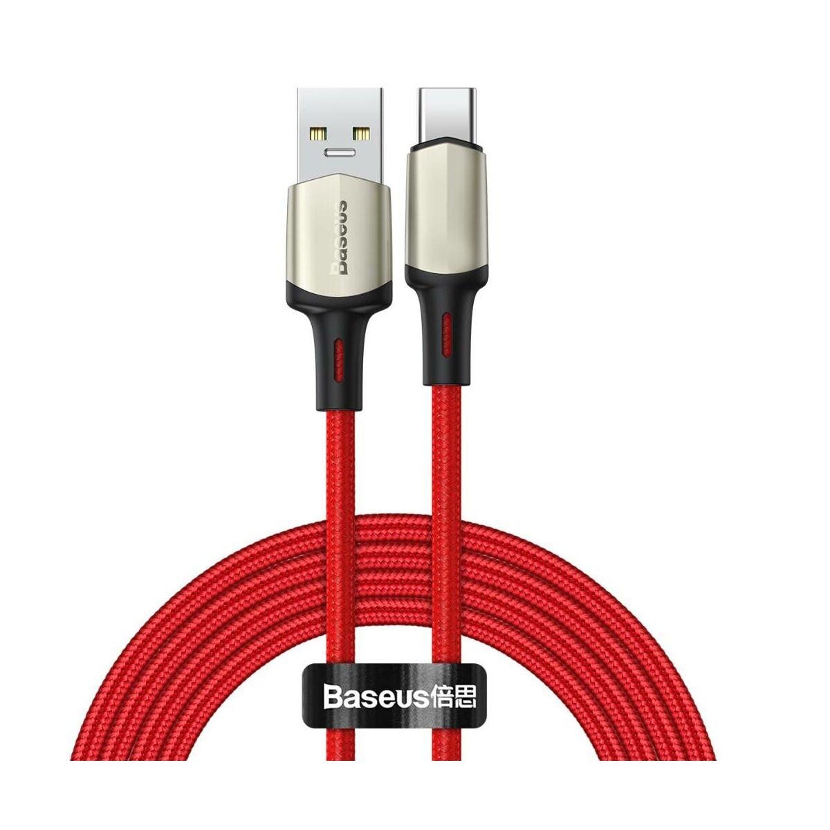 Baseus Type-C kábel Cafule (VOOC támogatás) 480 Mbps adatátviteli sebesség, 5A, 2m, piros (CATKLF-VB09)