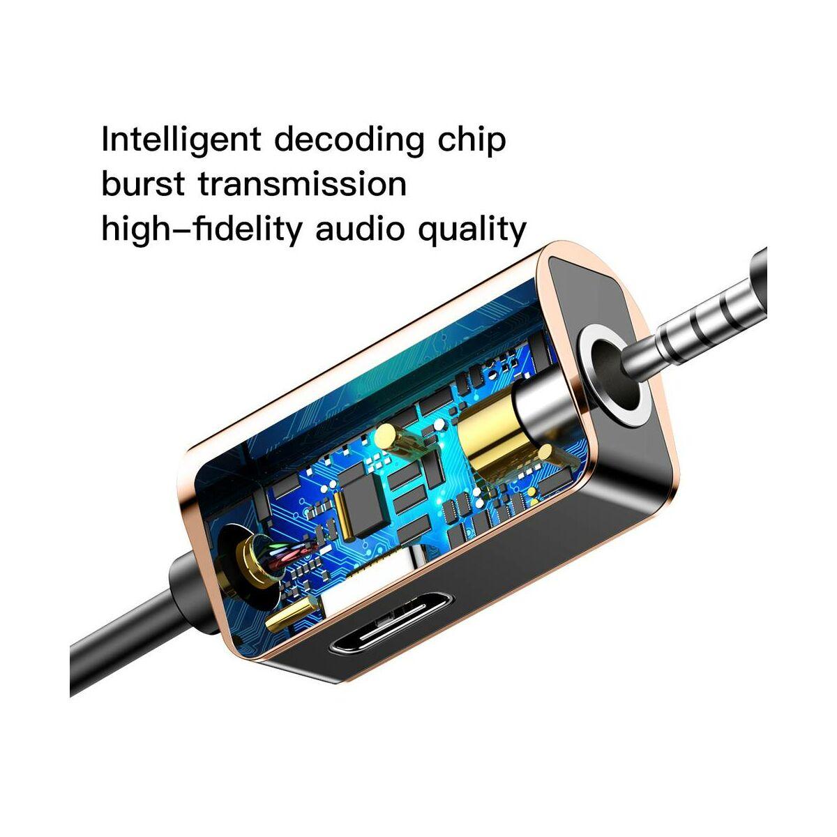 Baseus átalakító, Type-C[apa] - Type-C[anya] + 3.5 mm[anya] L40, arany (CATL40-17)