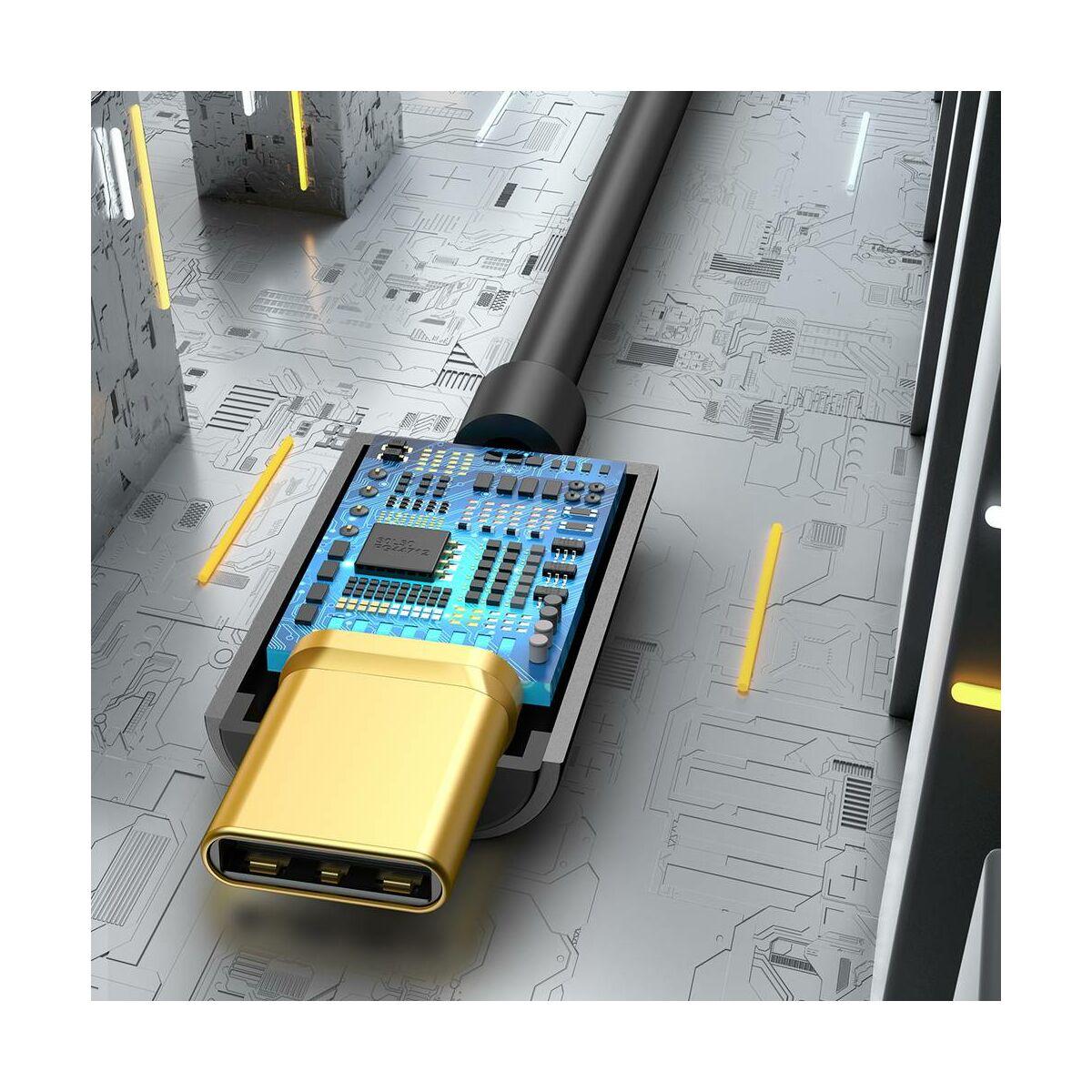 Baseus átalakító, L54 Type-C [apa] - 3.5 mm [anya] adapter, fekete (CATL54-01)