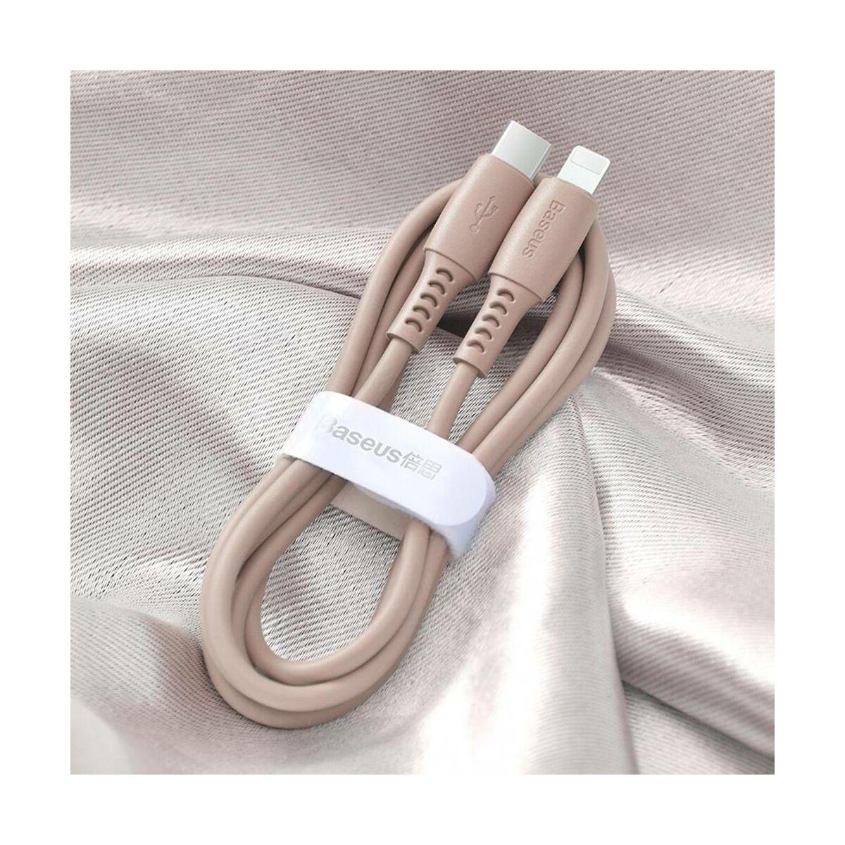 Baseus Type-C - Lightning Colourful Power Delivery kábel 18W 1.2m, rózsaszín (CATLDC-04)