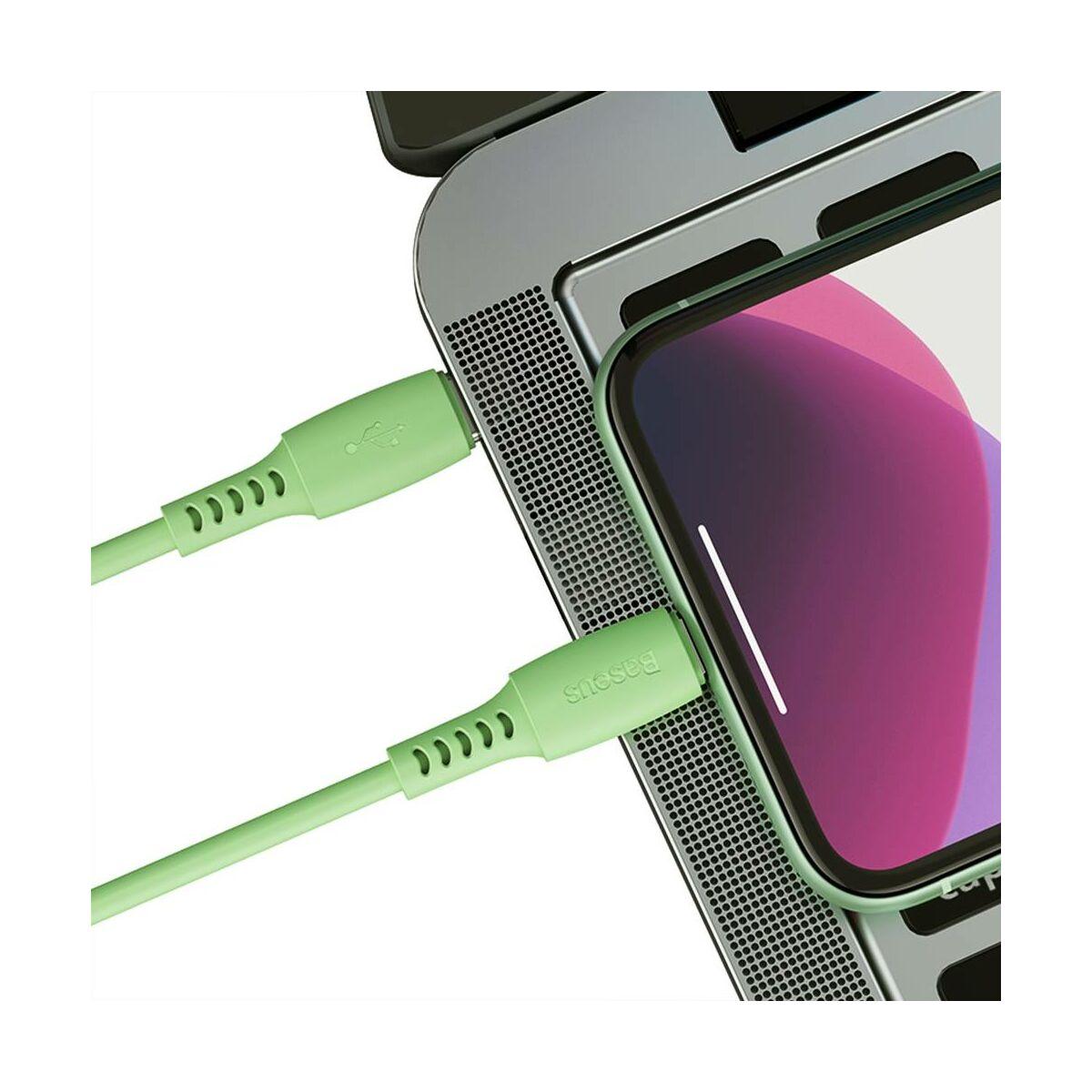 Baseus Type-C - Lightning Colourful Power Delivery kábel 18W 1.2m, zöld (CATLDC-06)