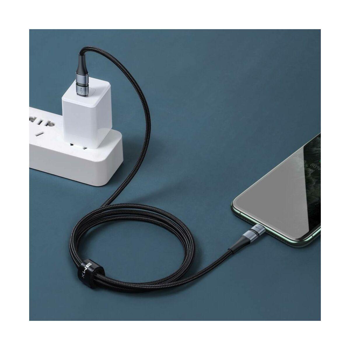 Baseus Type-C - Ligthning kábel, BMX Double-deck MFi hitelesítéssel PD 18W, 1.2m, szürke/fekete (CATLS-AG1)