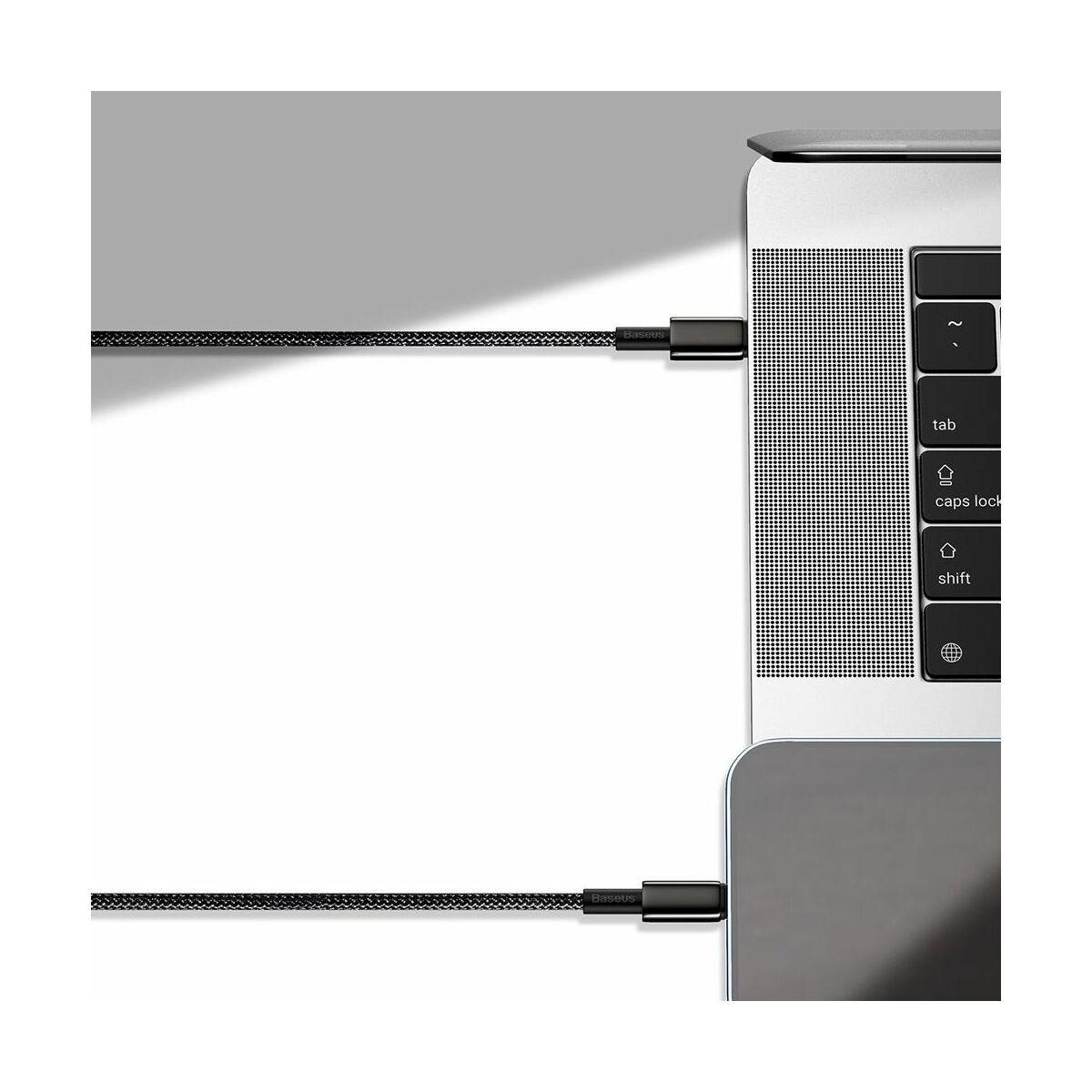 Baseus Type-C - Lightning kábel, Tungsten Gold gyorstöltő PD 20W 1m, fekete (CATLWJ-01)