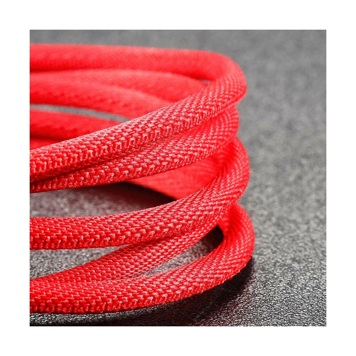 Baseus Type-C kábel, Yiven series, Type-C - Lightning, 18W, 2m, piros (CATLYW-B09)
