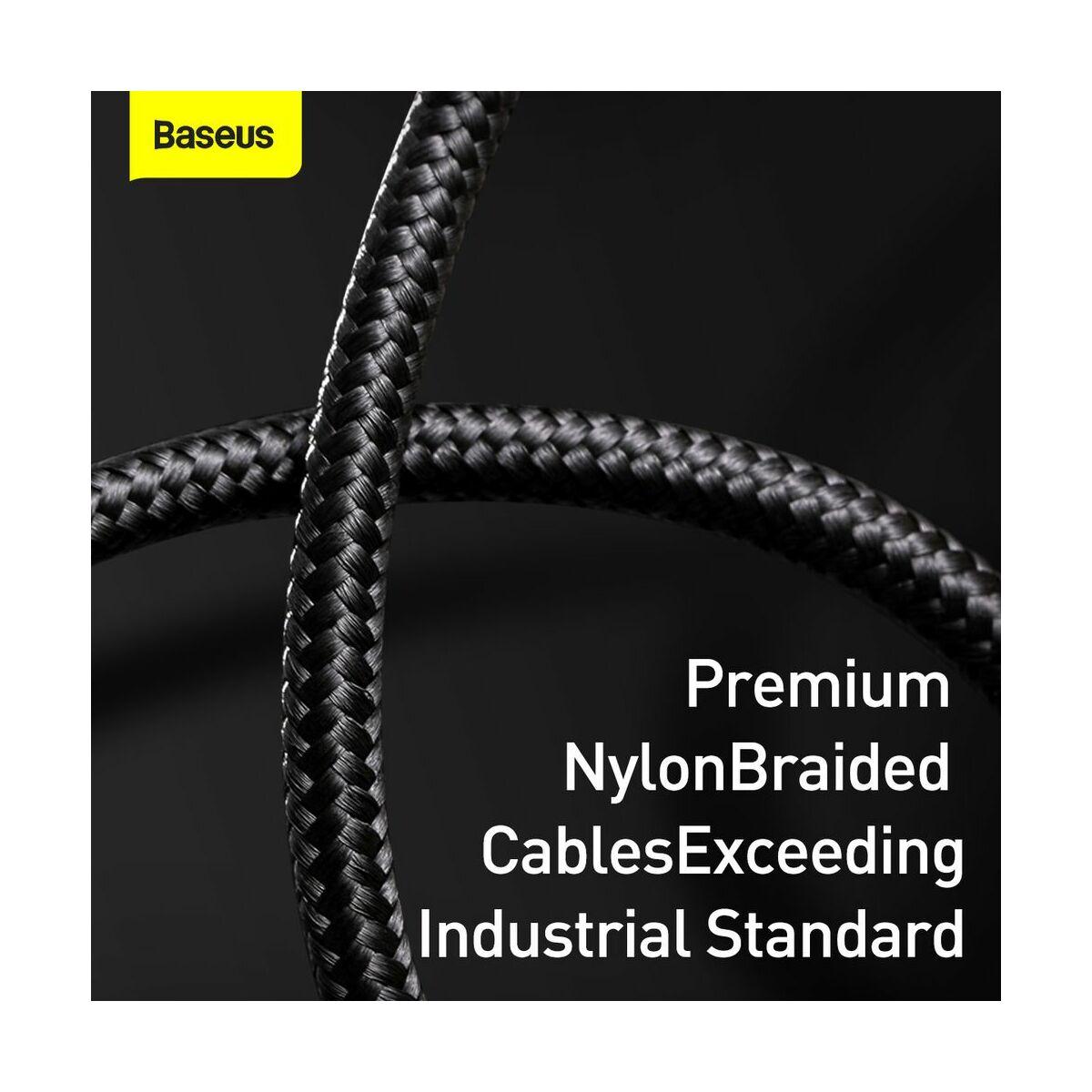 Baseus Type-C kábel, töltés teljesítmény kijelzős gyorstöltő és adatkábel 5A, 1m, fekete (CATSK-01)