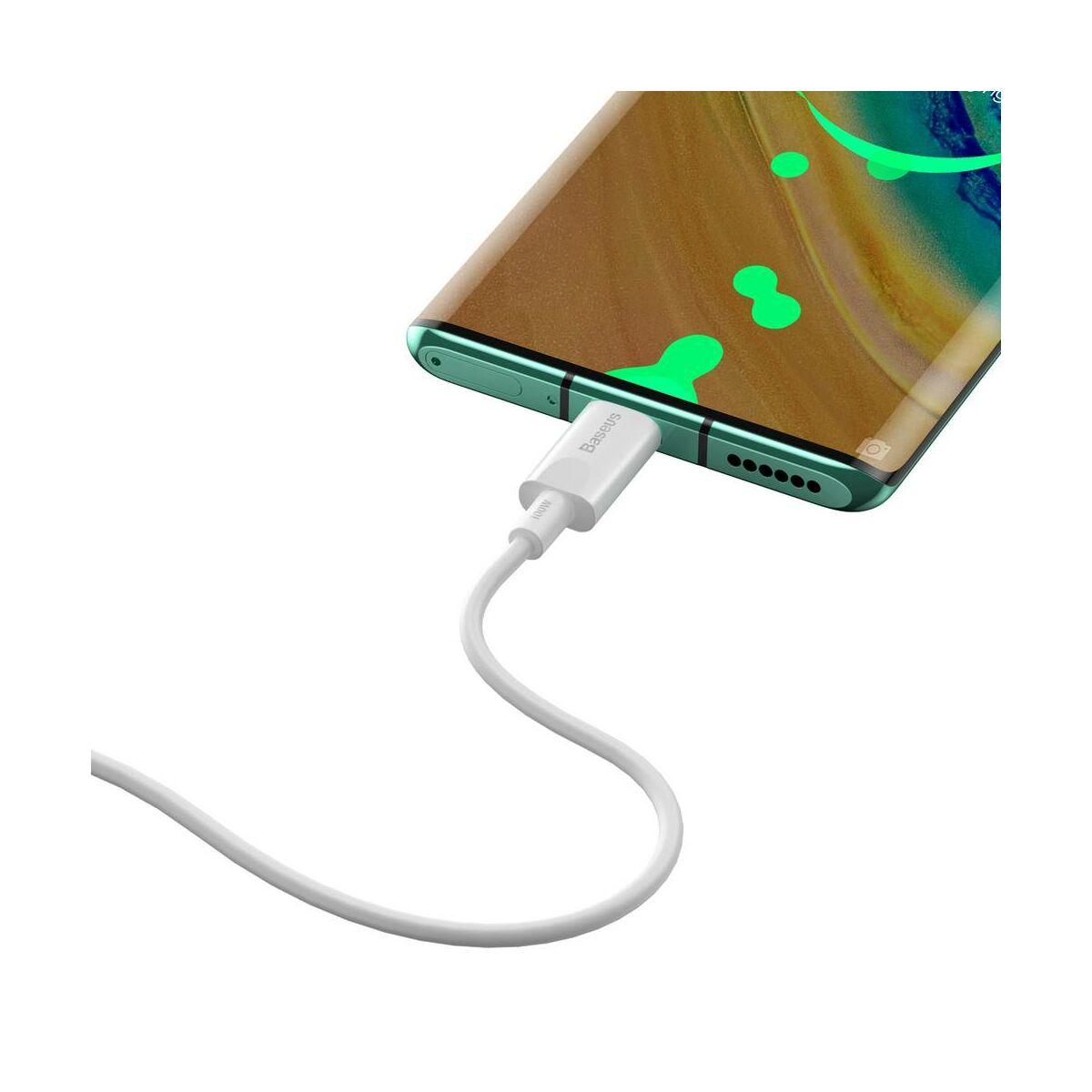 Baseus Type-C kábel, Xiaobai series gyorstöltés, 100W(20V/5A) 1.5m, fehér (CATSW-D02)