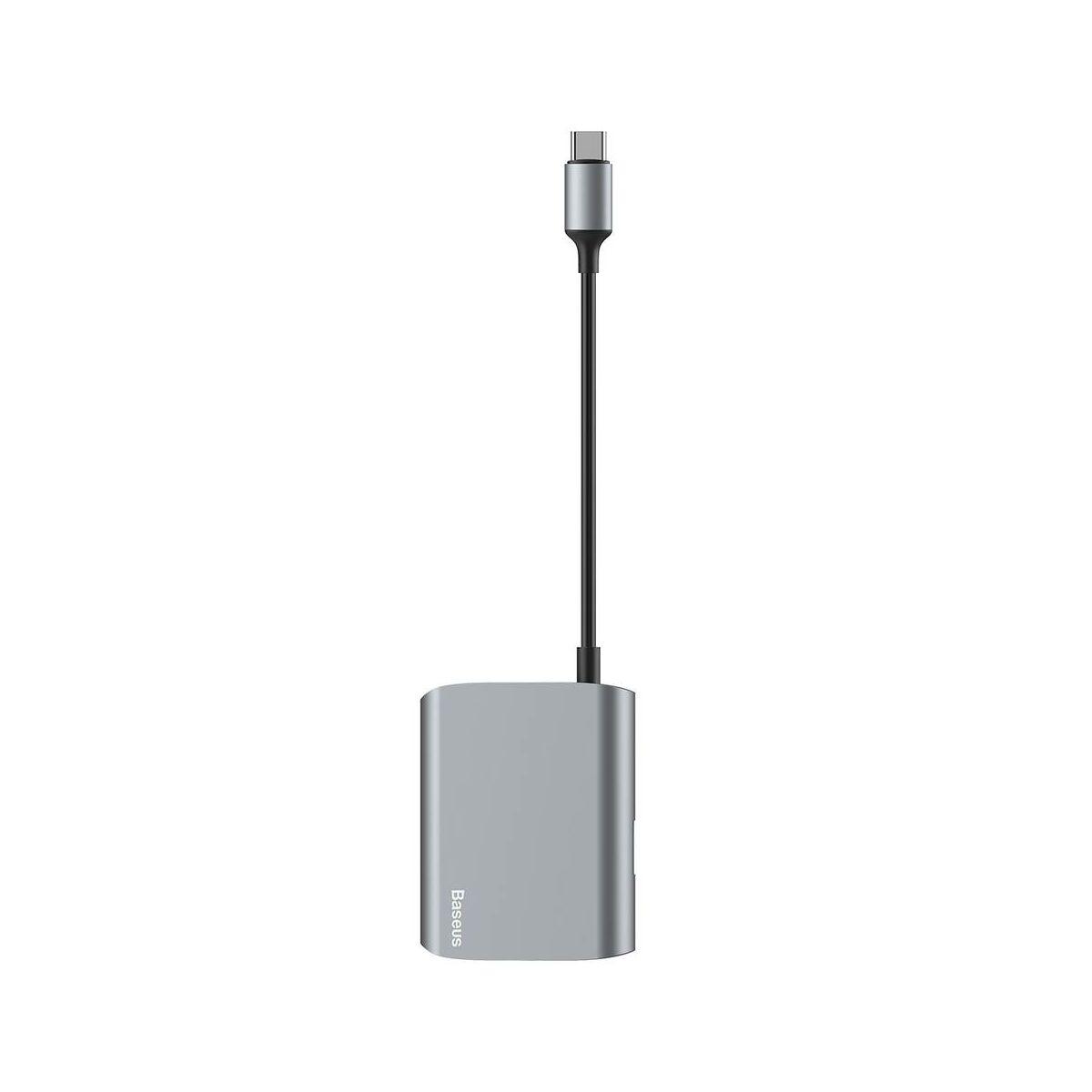 Baseus HUB, Enjoyment series (Type-C bemenetről - HDMI/1xUSB3.0) adapter, szürke (CATSX-D0G)