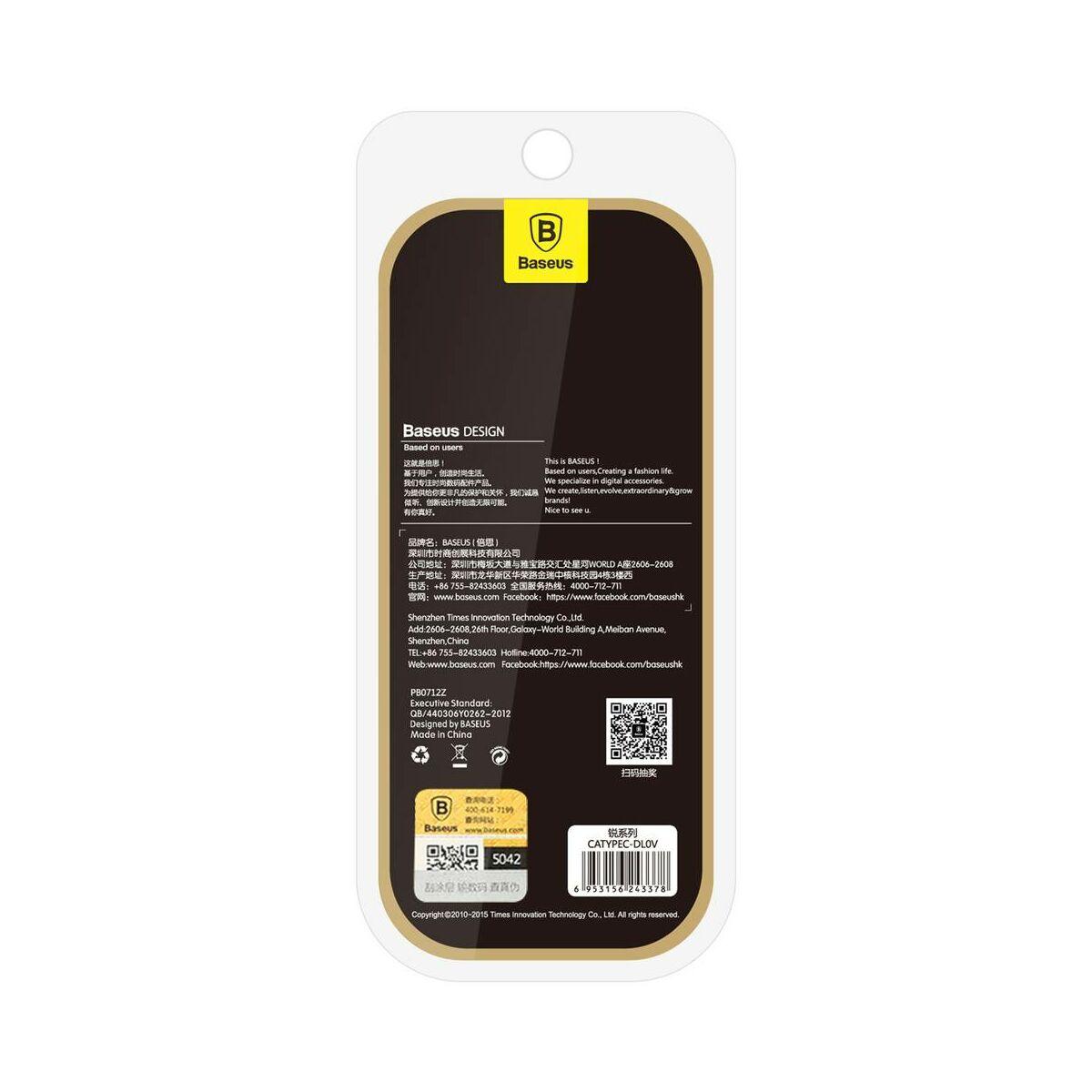 Baseus átalakító, Sharp Micro USB - Type-C, szürke (CAType-C-DL0G)