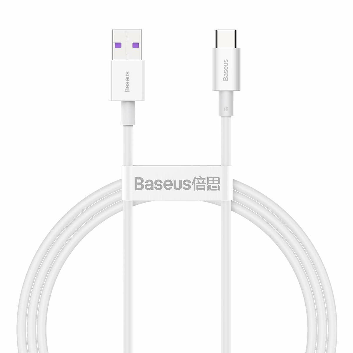 Baseus Type-C Superior series Gyors töltés, Adatkábel, 66W (11V / 6A) 1m, fehér (CATYS-02)