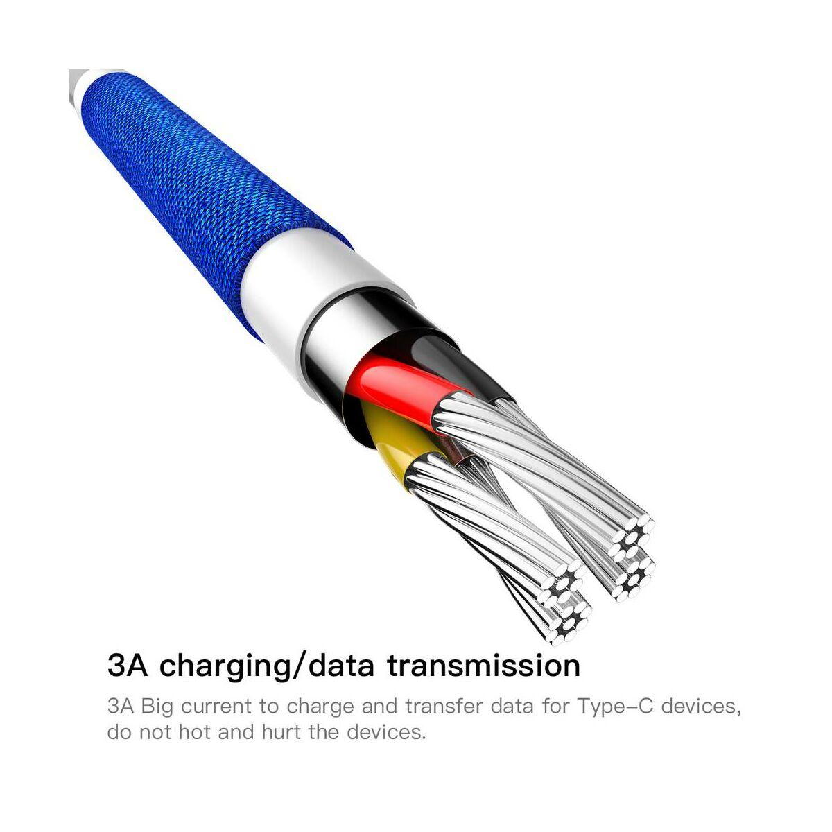Baseus Type-C kábel, Yiven, 3A, 1.2m, kék (CATYW-03)