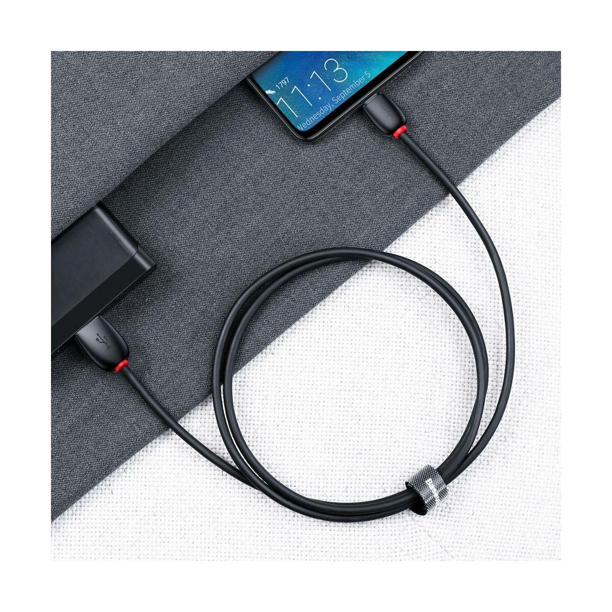 Baseus Type-C kábel, Purple Loop HW gyorstöltő kábel, 5A, 40W, 1m, fekete (CATZS-01)