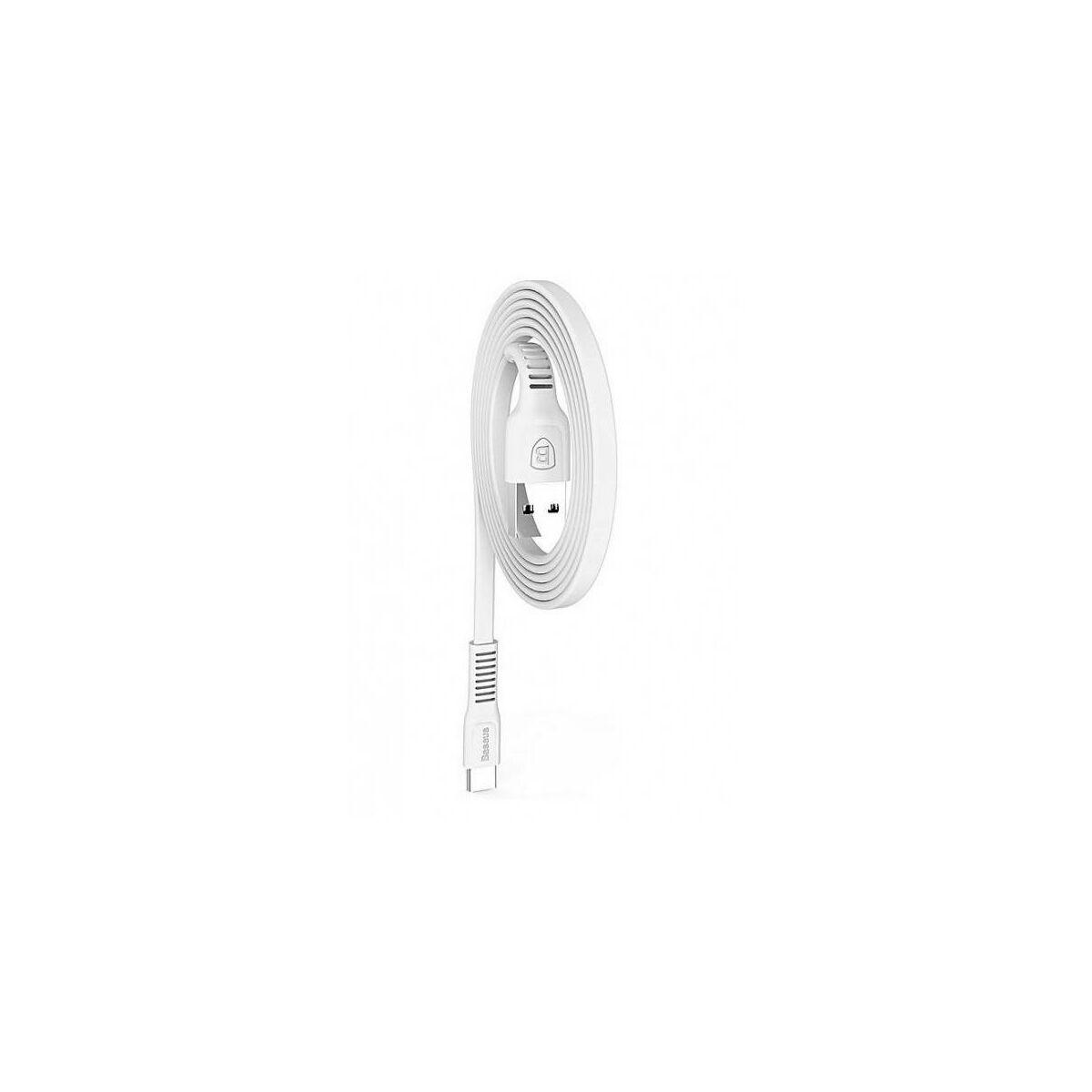 Baseus Type-C kábel, Tough series törésálló kábel, 2A, 1m, fehér (CATZY-B02)