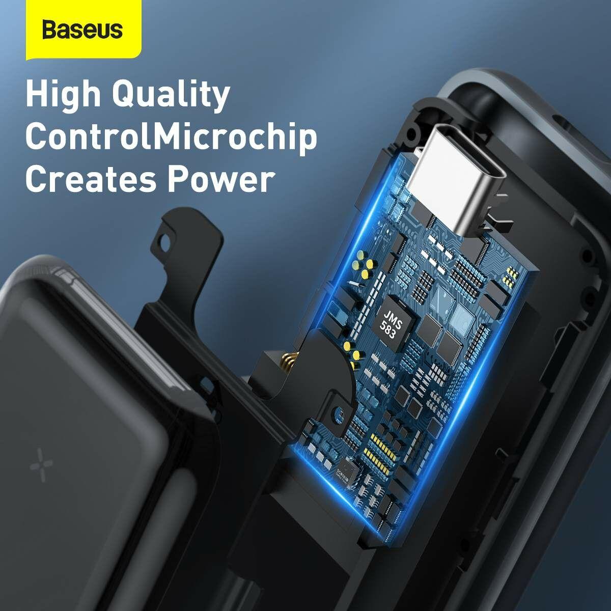 Baseus kiegészítő, SSD merevlemez ház (Type-C - Gen2), átviteli sebesség 10 Gpbs, alumínium ház, fekete (CAYPH-F0G)