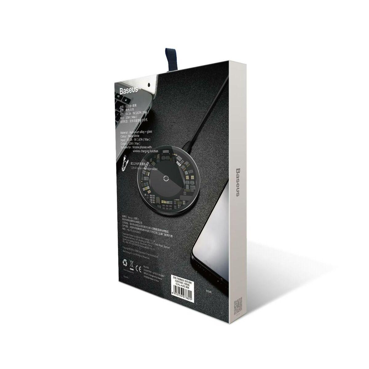 Baseus vezeték nélküli töltő, 10W, átlátszó (CCALL-AJK01)