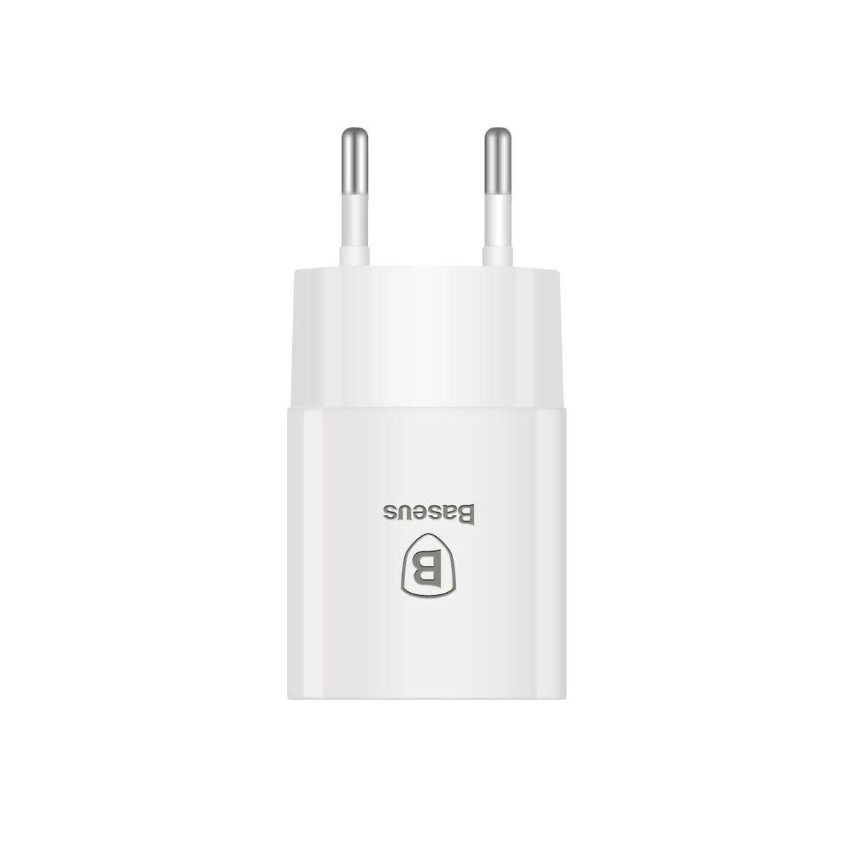 Baseus hálózati töltő, Letour 2.1A, fehér (CCALL-E2A02)