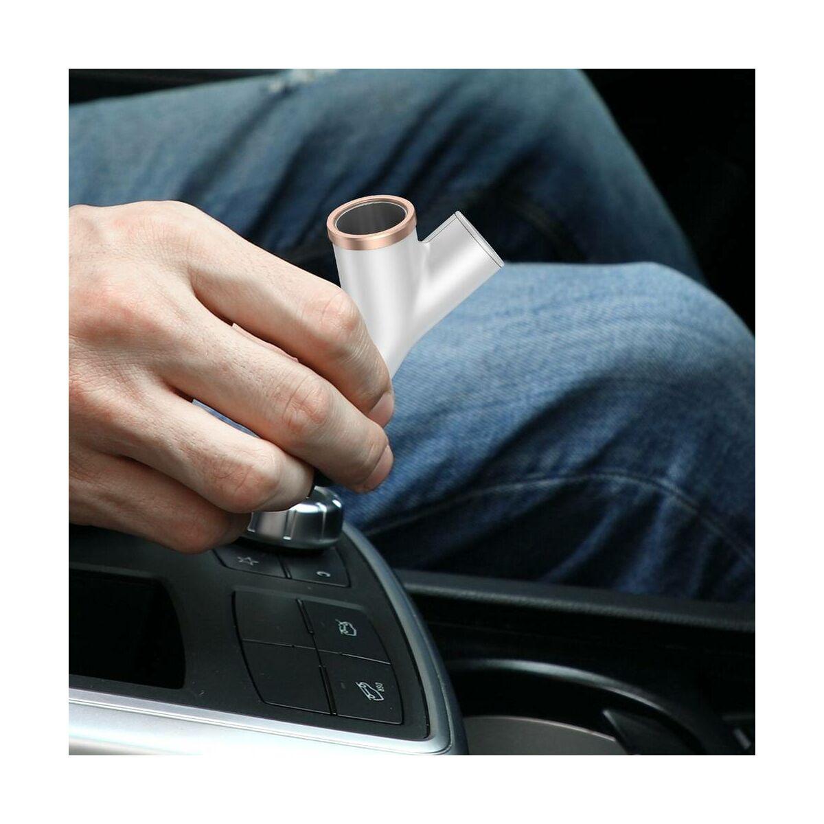 Baseus autós töltő, Y-type Dupla USB szivargyújtóval, max 3.4A, fehér (CCALL-YX02)