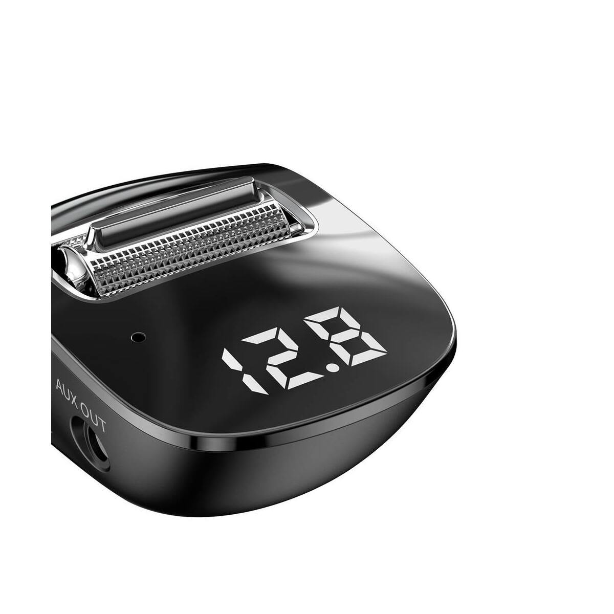 Baseus autós töltő, Bluetooth Fm Transzmitter Streamer F40 AUX, MP3, BT 5.0, 2xUSB csatlakozás, ergonómikus forma, 15W, fekete (CCF40-01)