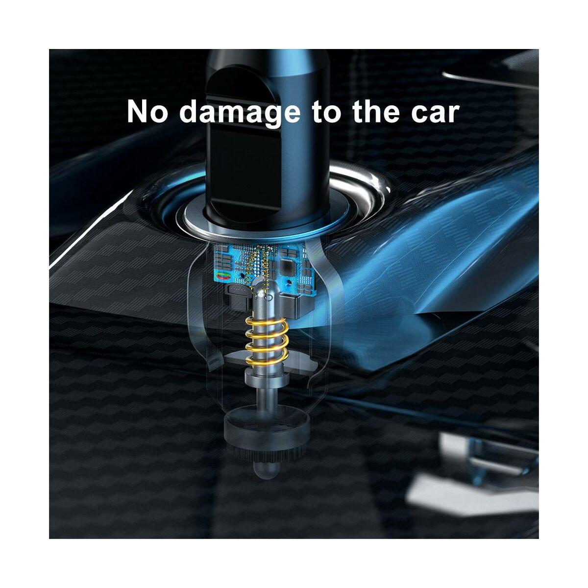 Baseus autós kiegészítő, Smart mini kompressor, 120W, fekete (CRCQB01-01)