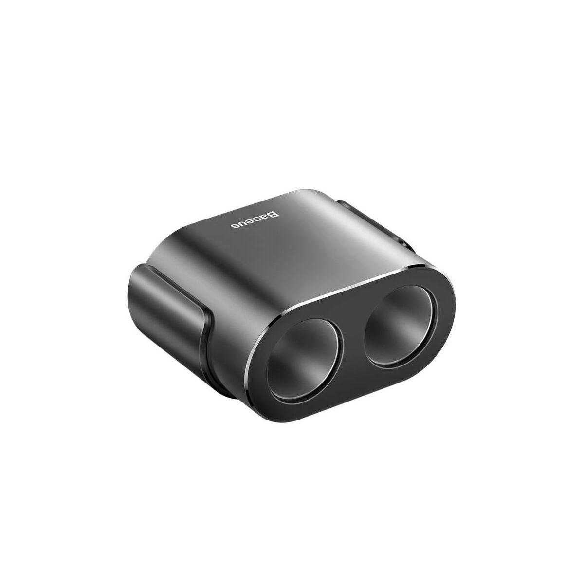 Baseus autós töltő, One to Two szivargyújtó (dual-gyújtó 80W + dual USB 3.1A), fekete (CRDYQ-01)