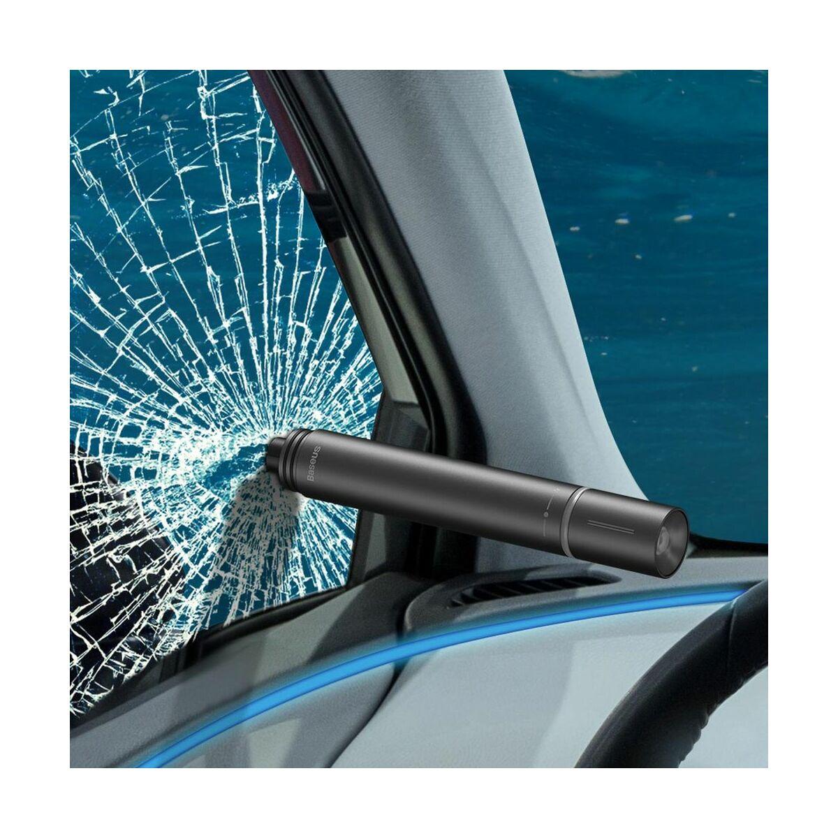 Baseus autós kiegészítő, Savior Zseblámpa, ablaktörő funkcióval, fekete (CRSFH-B01)
