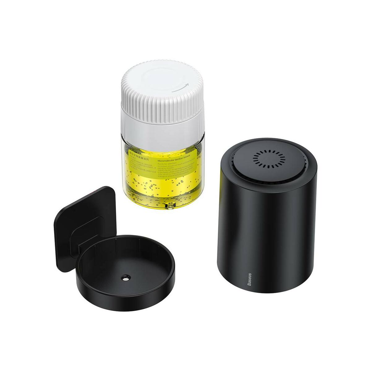 Baseus autós kiegészítő, Légtisztító és fertőtlenítő, mikromulekurális baktérium eltávolító, 100ml, fekete (CRSJCC-01)