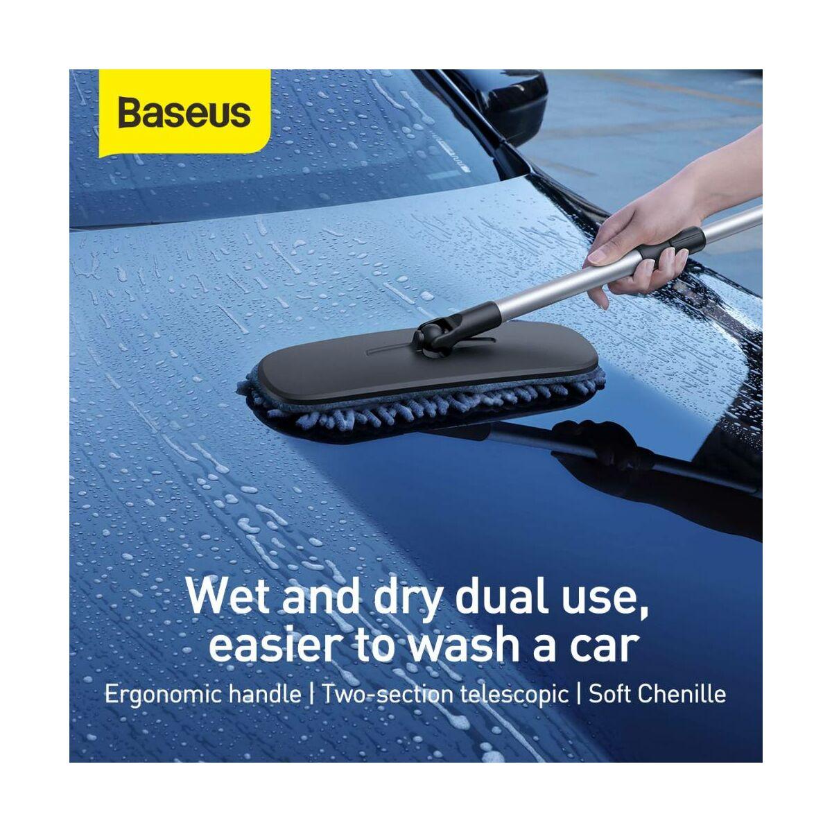 Baseus autós kiegészítő, Handy Car Home mosó/tisztító nyél mozgatható fejjel, fekete (CRTB-01)