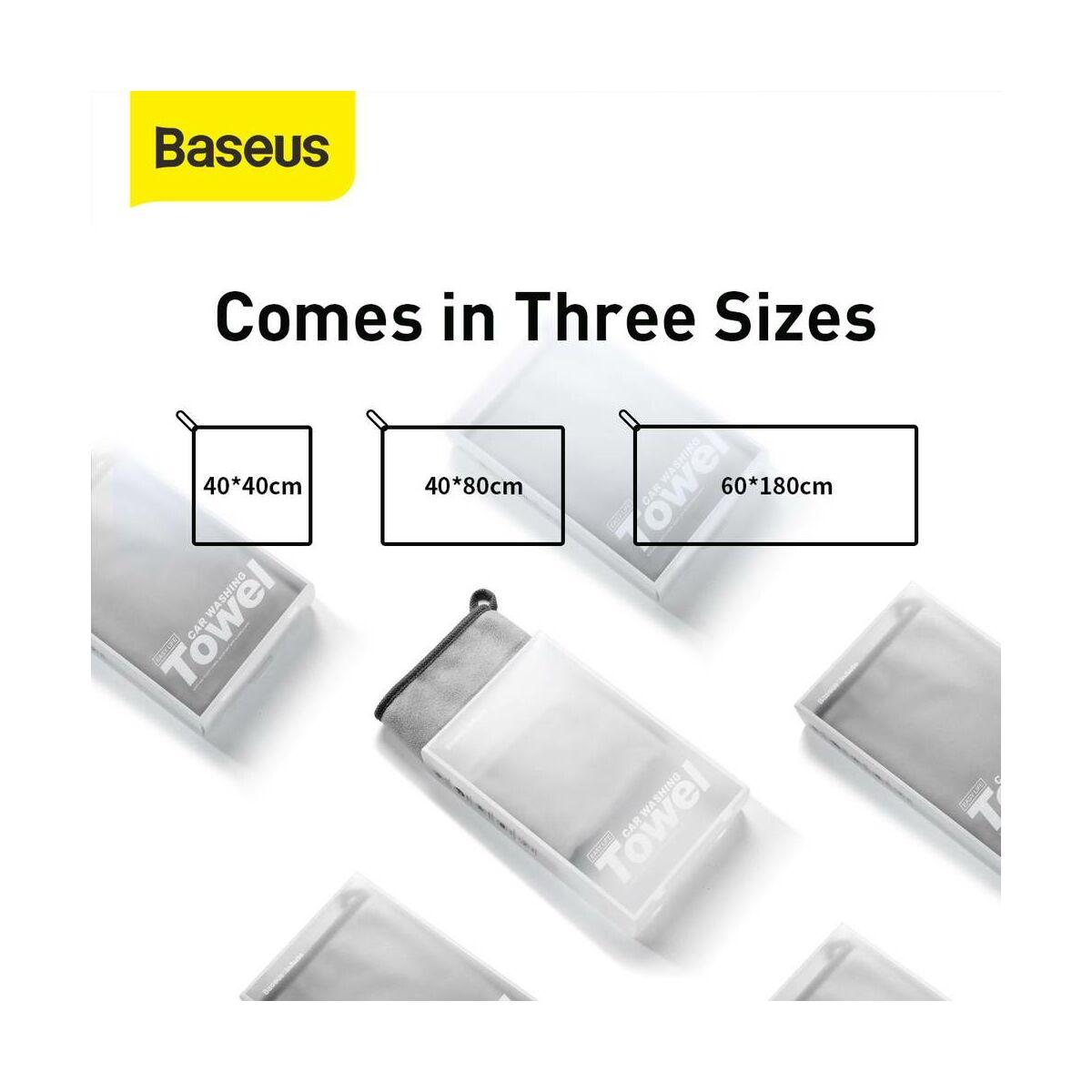 Baseus autós kiegészítő, Life mikroszálas törölköző autó mosás utáni tisztításhoz (40*40mm, 2db / csomag) szürke (CRXCMJ-0G)