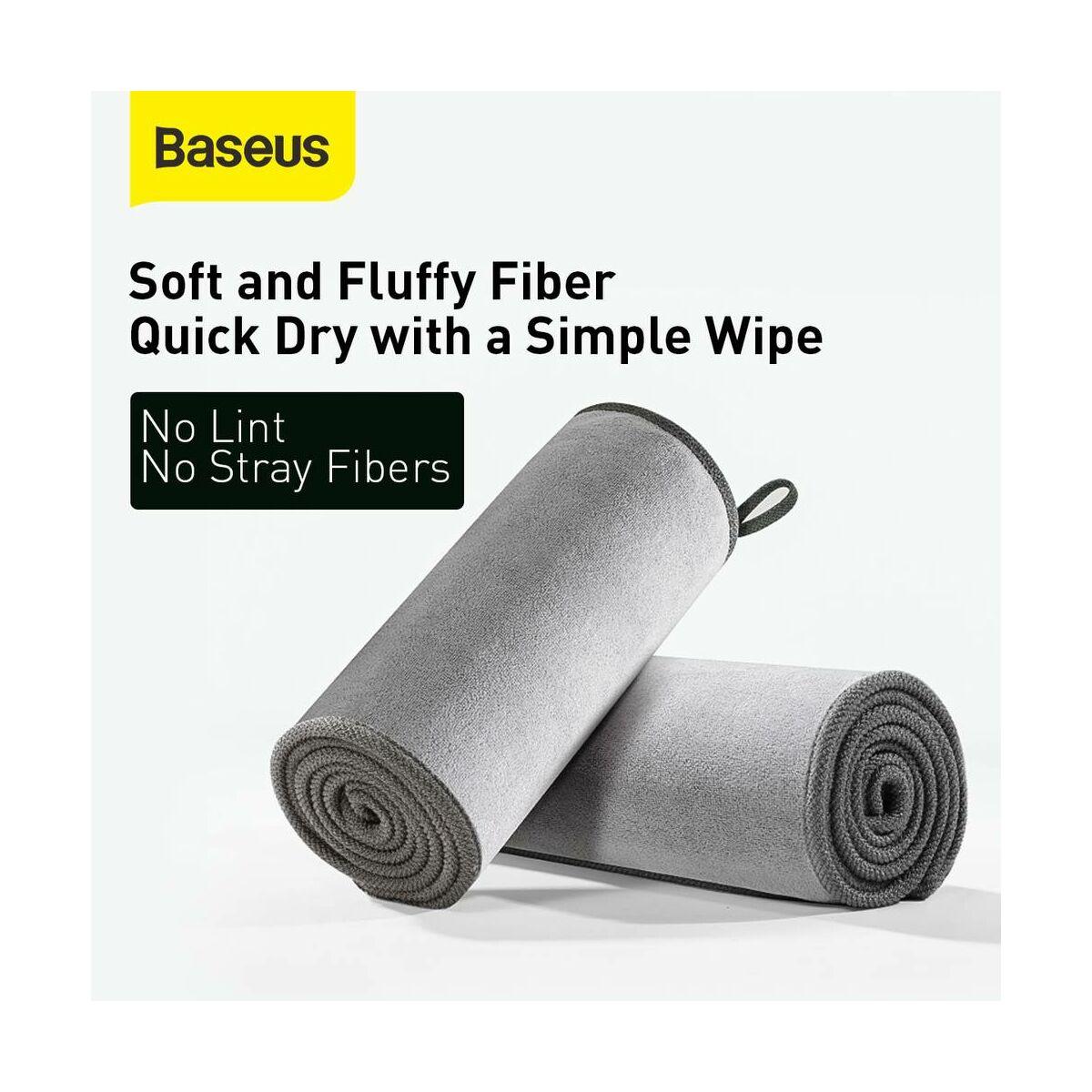 Baseus autós kiegészítő, Life mikroszálas törölköző autó mosás utáni tisztításhoz (40*80 mm) szürke (CRXCMJ-A0G)