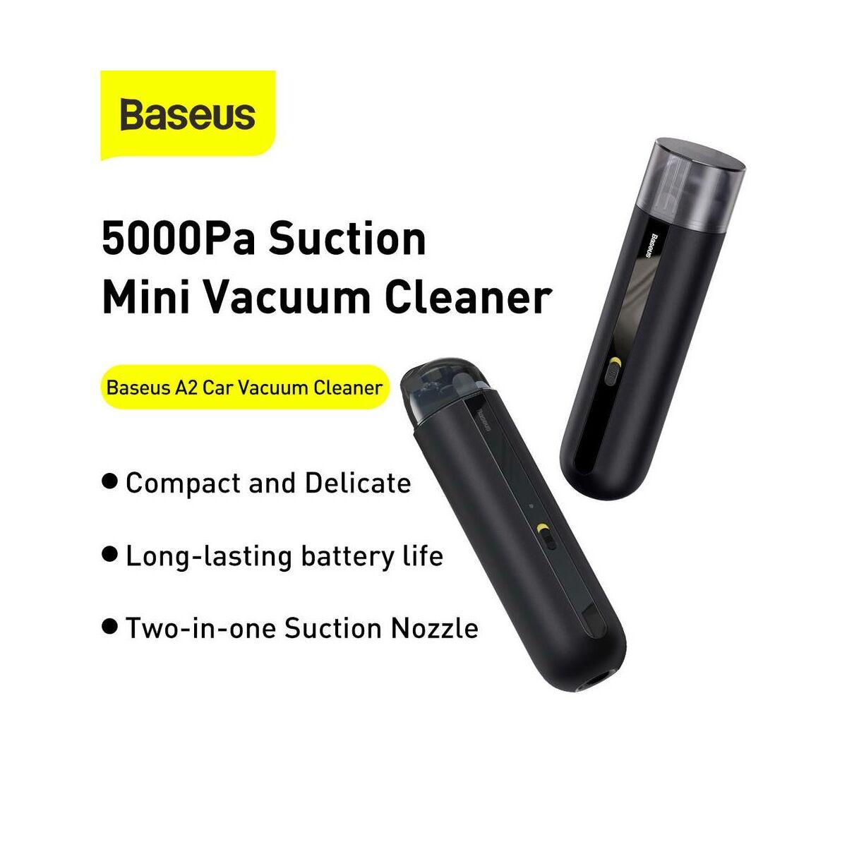 Baseus autós kiegészítő, porszívó A2, 5000Pa szívóerő 70W, fekete (CRXCQA2-01)