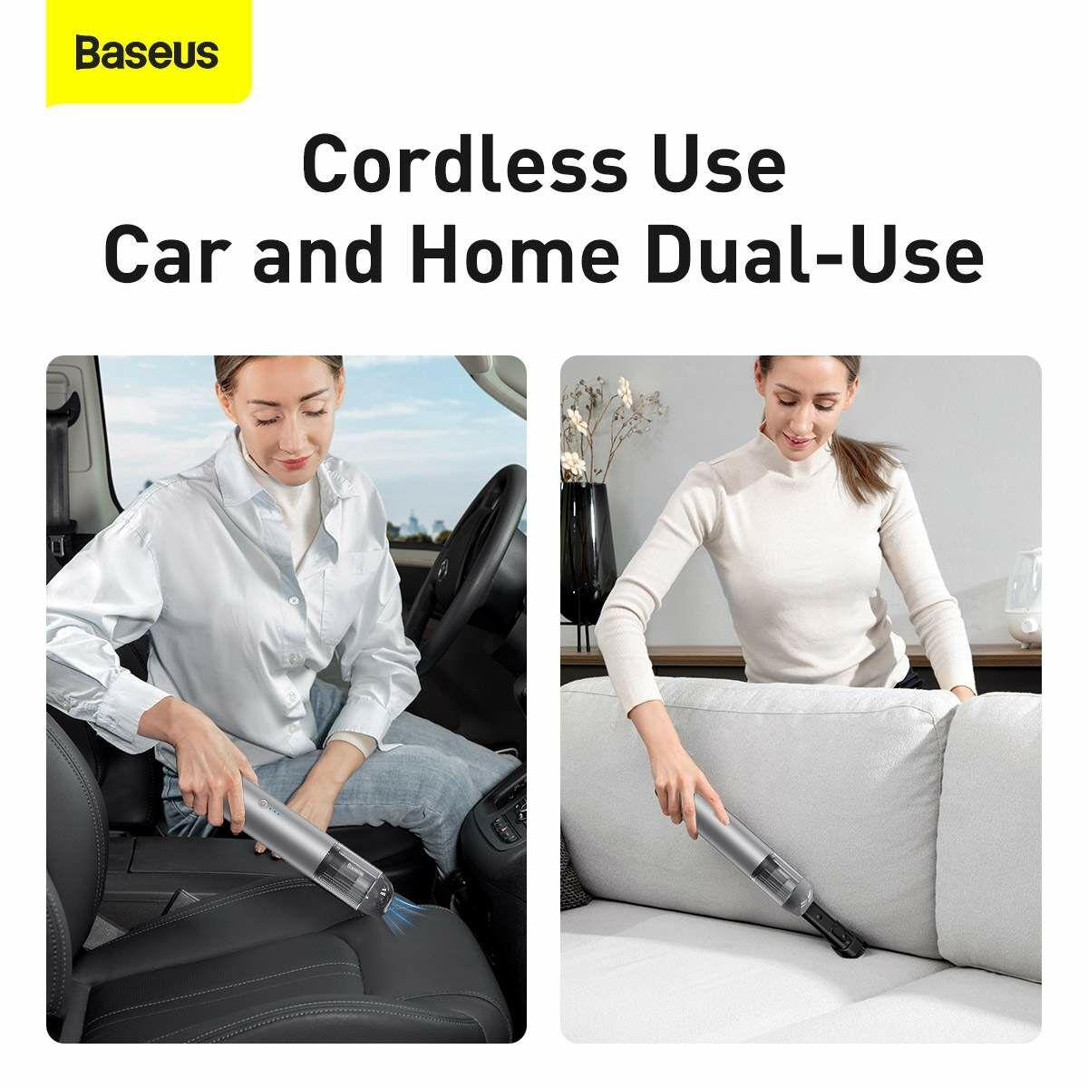 Baseus autós kiegészítő, porszívó A3, 15000Pa szívóerő 135W, ezüst (CRXCQA3-0S)