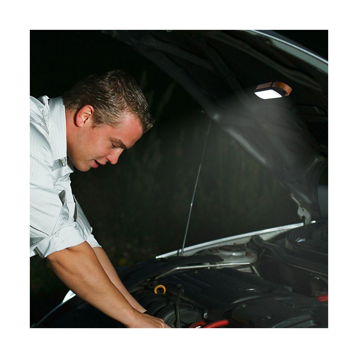 Baseus autós kiegészítő, Zseblámpa, napelemes, függeszthető, 1000 mAh beépített akkumulátorral, 2 óra működési idővel, fekete (CRYJD01-01)