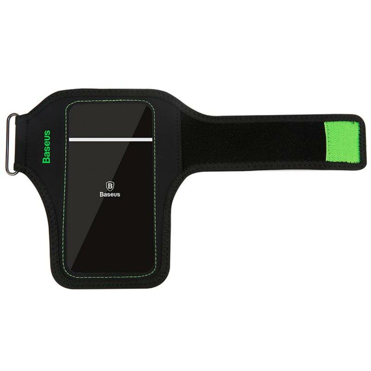 """Baseus állítható sport csukló tok, 5.0""""-ig, fekete/zöld (CWYD-A06)"""