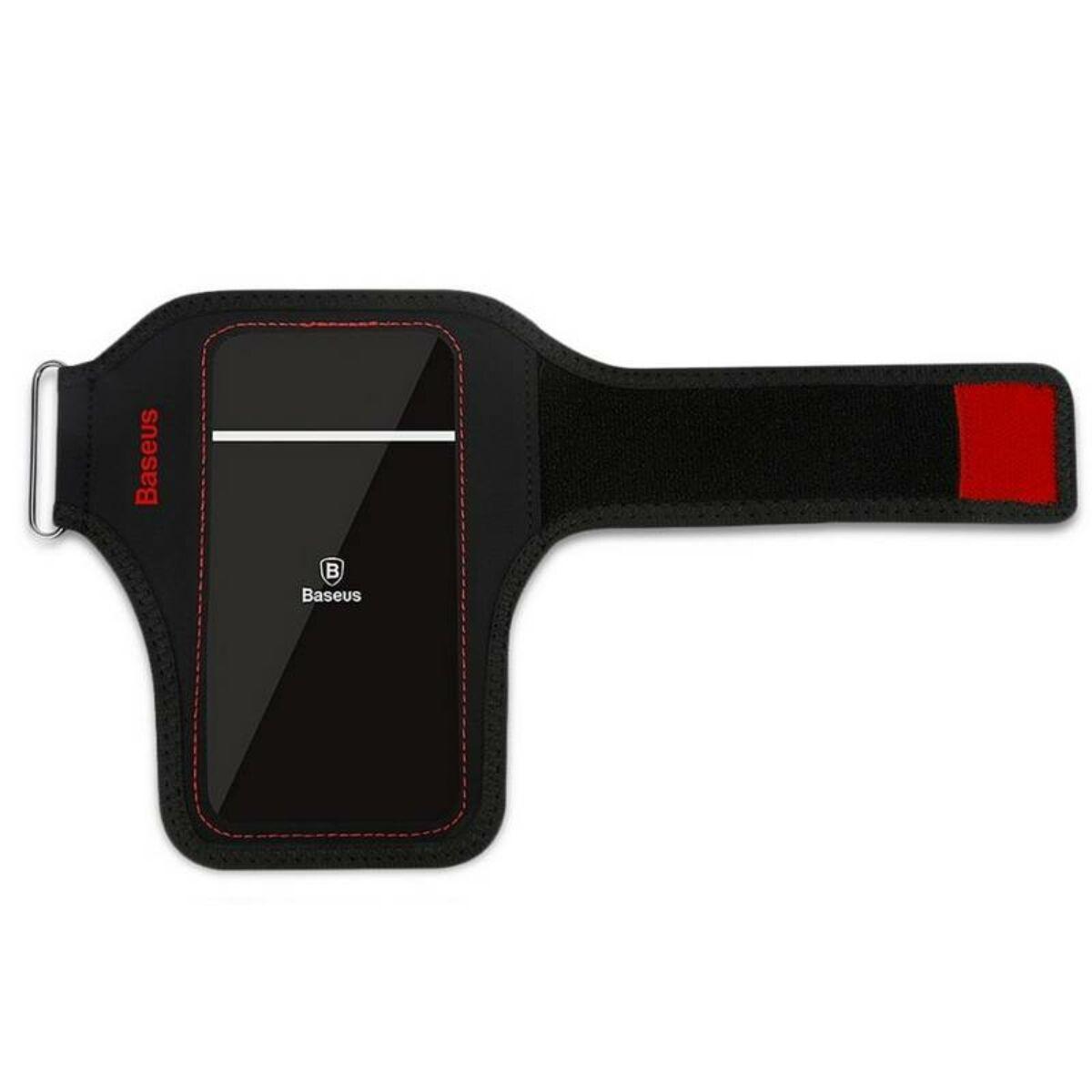 """Baseus állítható sport csukló tok, 5.8""""-ig, fekete/piros (CWYD-B09)"""