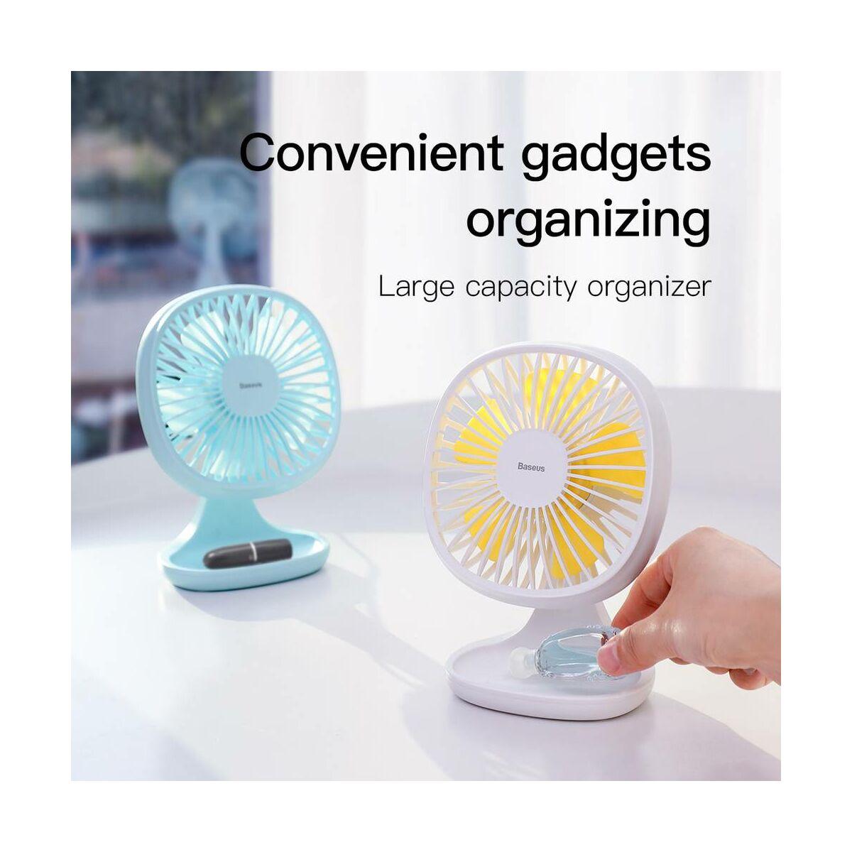 Baseus otthon, Pudding-Shaped asztali ventilátor, fehér (CXBD-02)