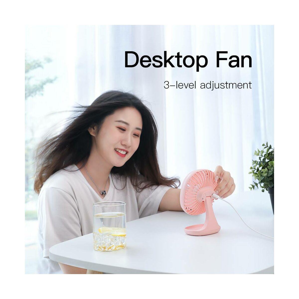 Baseus otthon, Pudding-Shaped asztali ventilátor, rózsaszín (CXBD-04)