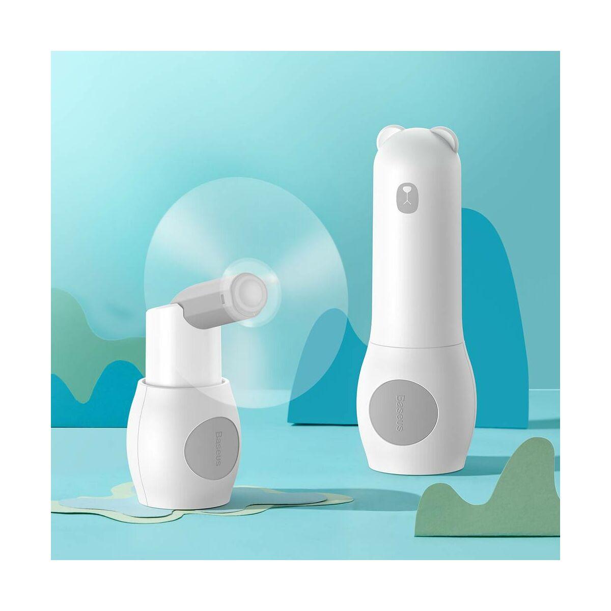Baseus ventilátor, hordozható, Tricolor bear, összehajtható, 2000 mAh, 1.1W, fehér (CXZD-A02)
