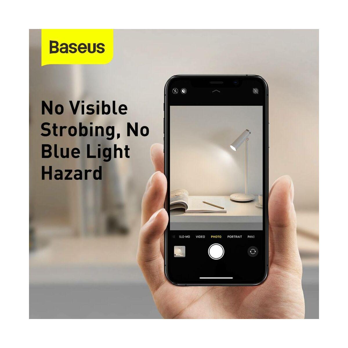 Baseus otthon, i-wok series asztali LED lámpa, vezeték nélküli, 1800 mAh, 3.8W, fehér (DGIWK-A02)