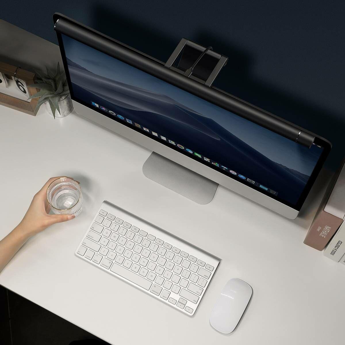 Baseus otthon, i-wok series Screen Hanging Light Pro USB csatlakozós monitorra szerelhető világítás, lumen 200LM, 5W, fekete (DGIWK-P01)