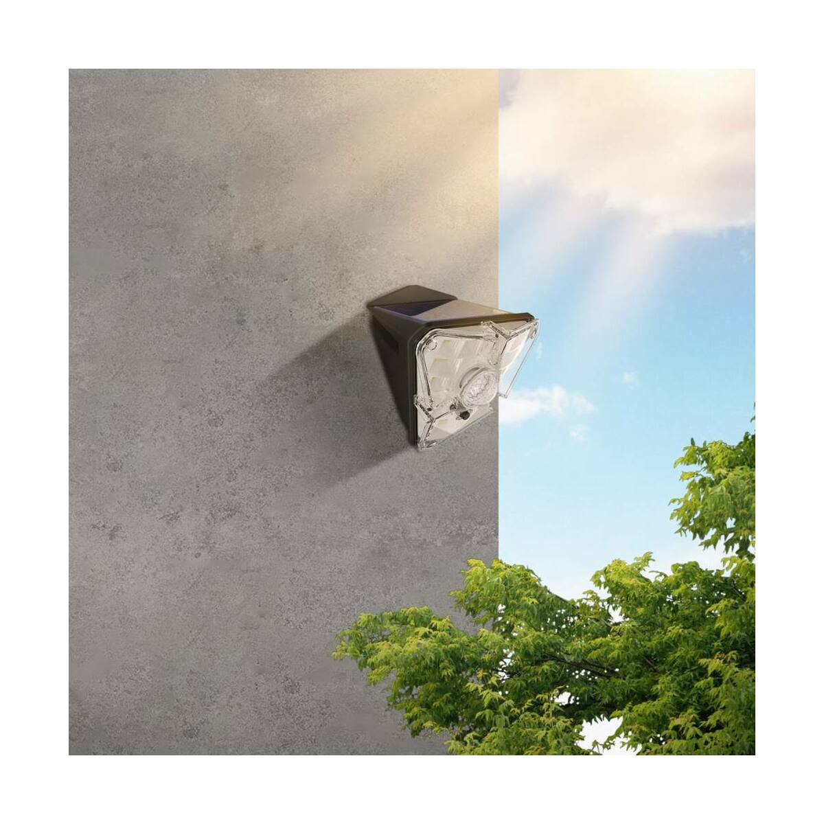 Baseus otthon, Energy collection 3szög alakú napelemes, mozgásérzékelős fali LED lámpa, 0-8m és 120 fok érzékelés, IPX5, fekete (DGNEN-A01)
