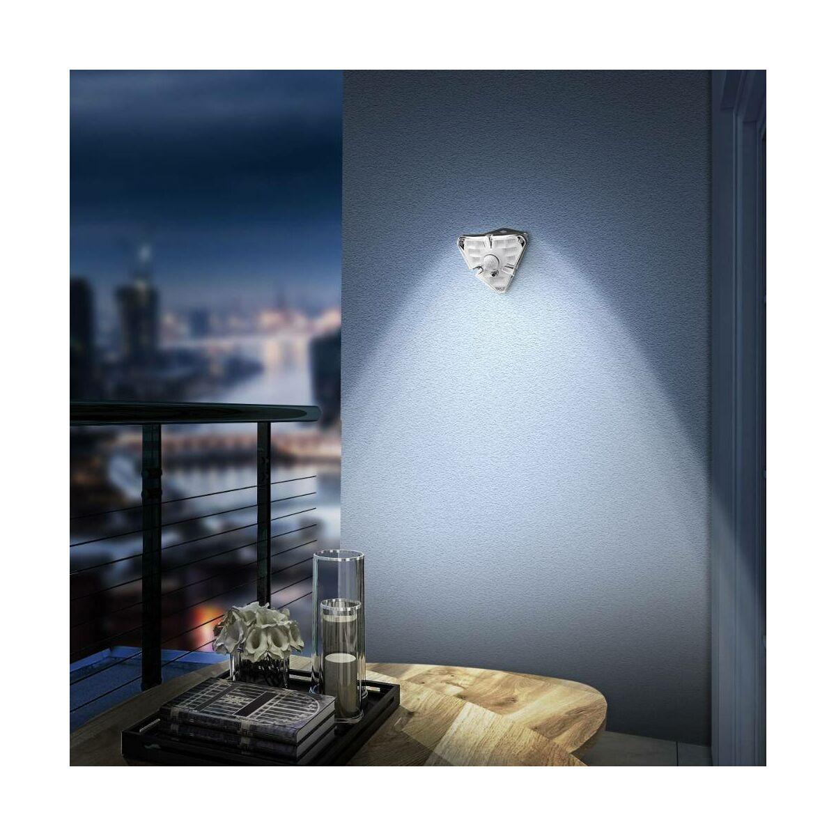 Baseus otthon, Energy collection 3szög alakú napelemes, mozgásérzékelős fali LED lámpa, 0-8m és 120 fok, IPX5, (4db/doboz) fekete (DGNEN-B01