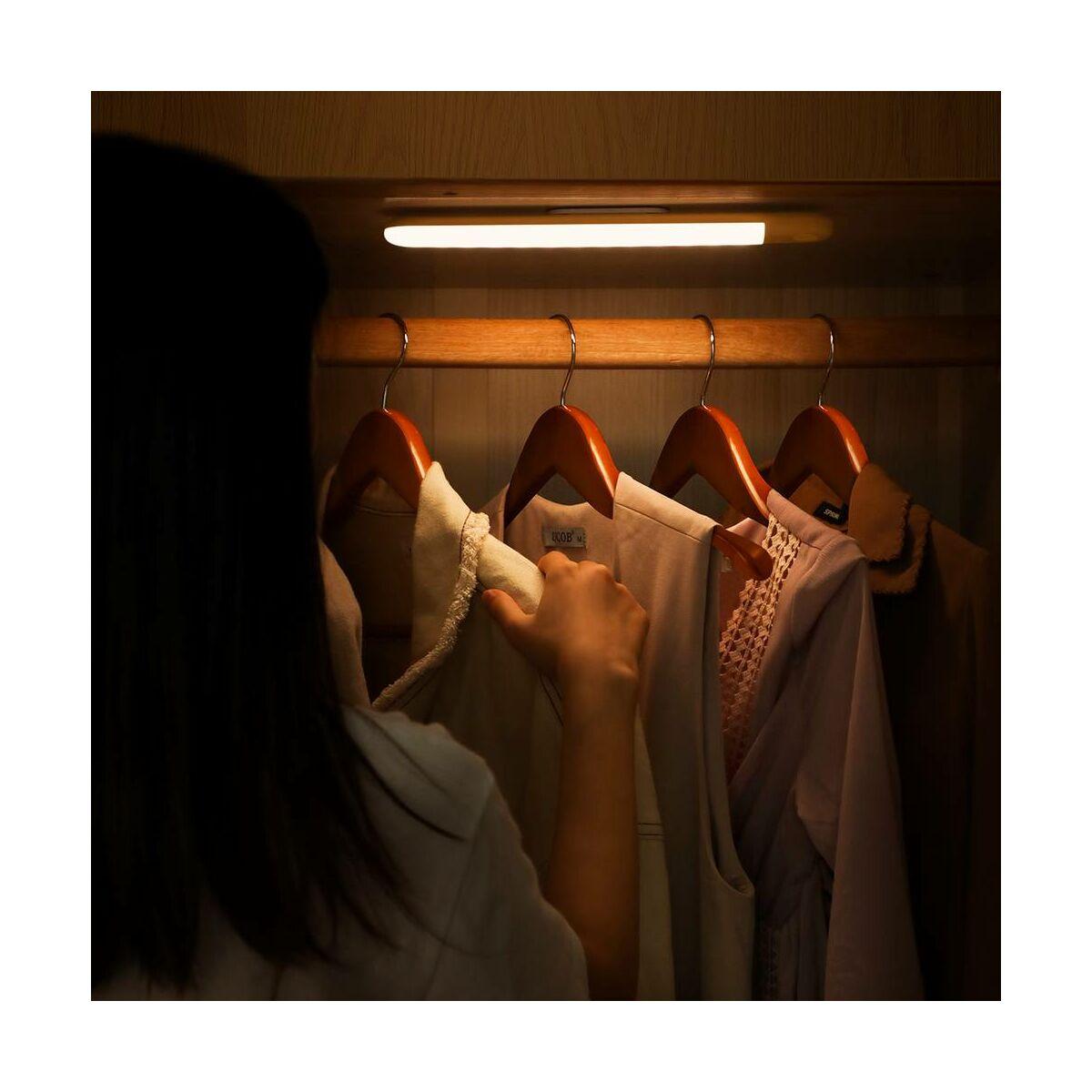 Baseus otthon, Sunshine human body Induction LED lámpa töltő kábellel falra vagy szekrénybe, természetes fehér (DGSUN-YA02)