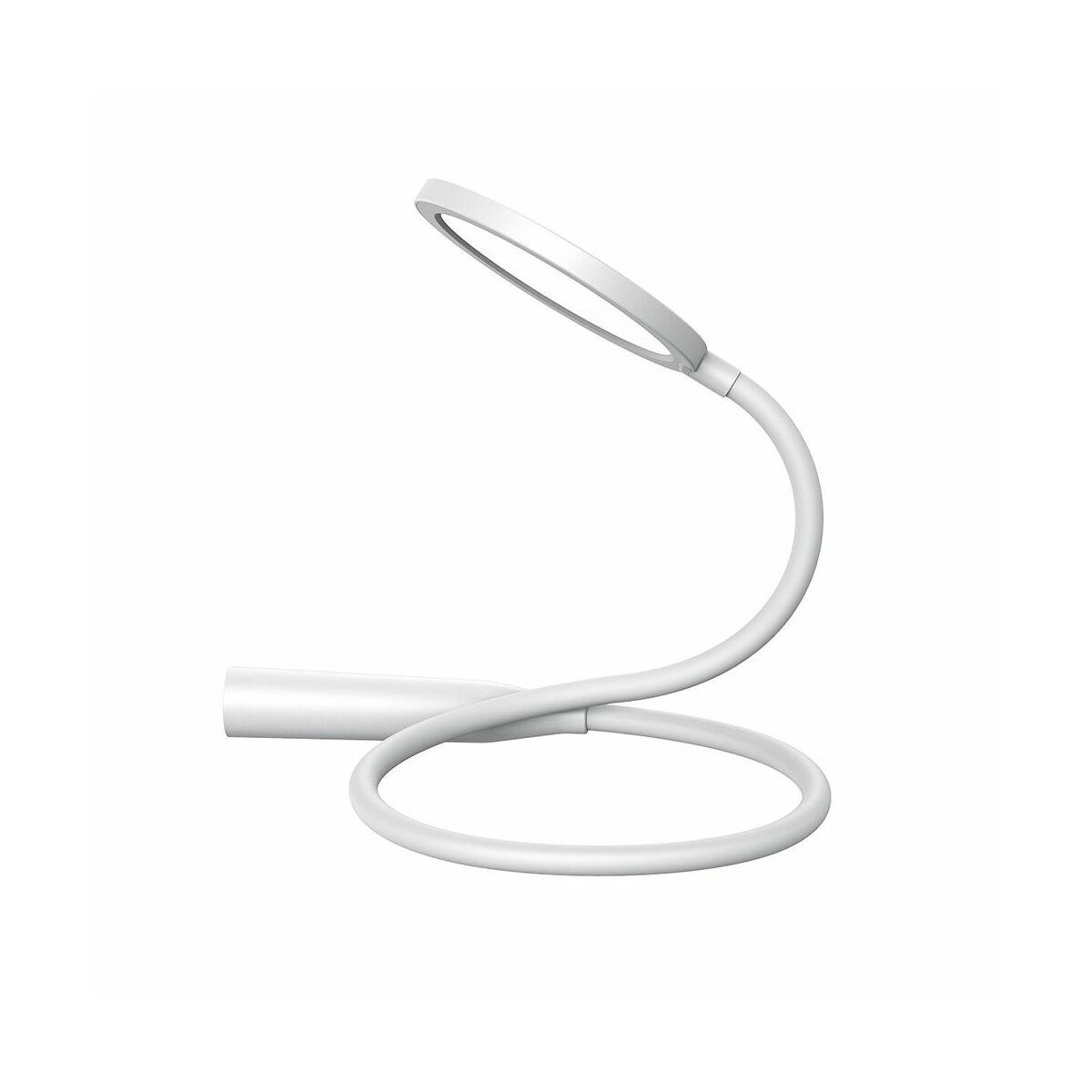 Baseus otthon, Comfort Reading Uniform Light Hose LED asztali lámpa + töltő, 1800 mAh, 4.5W, fehér (DGYR-02)