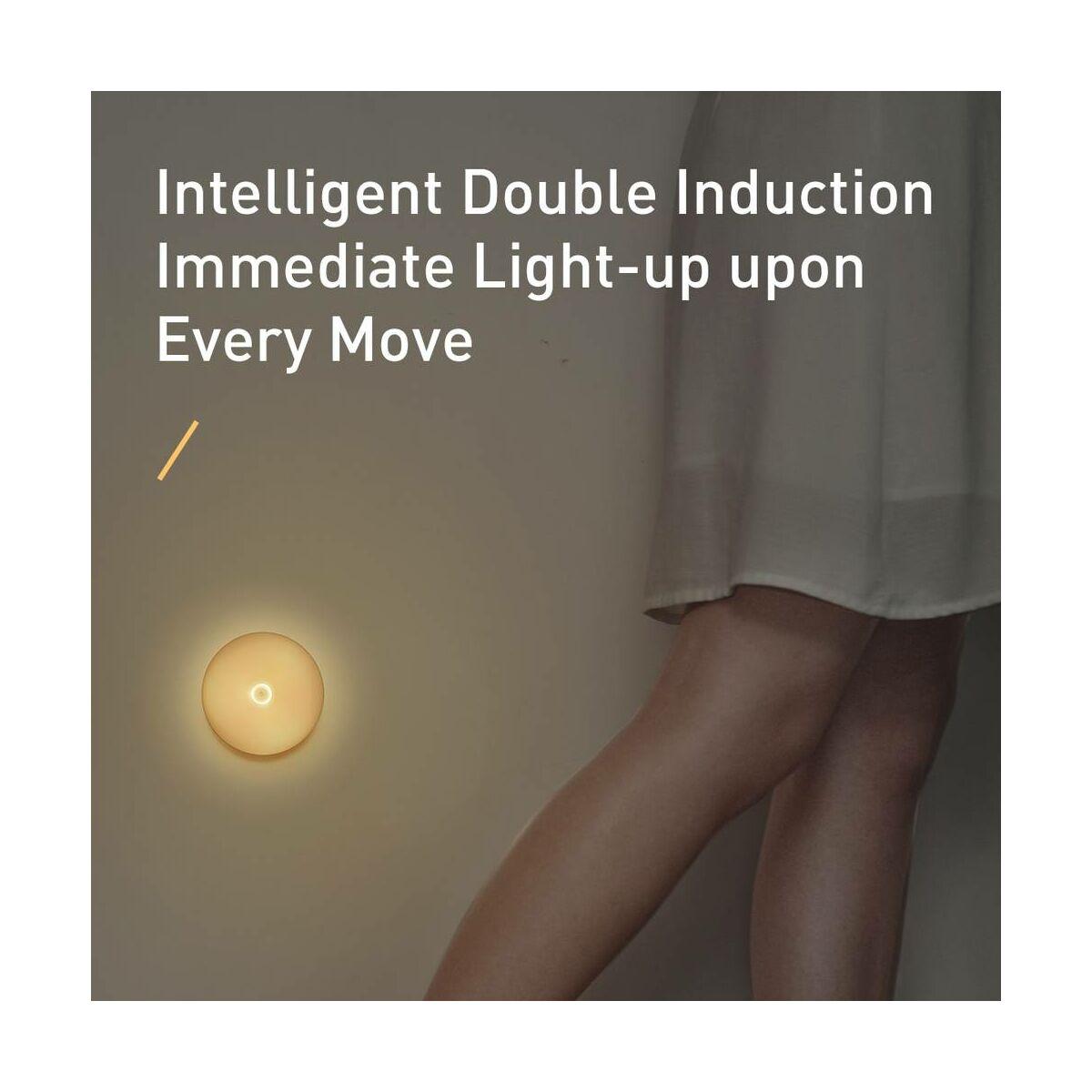 Baseus otthon, Light garden Series Intelligens Indukciós éjszakai fény (tölthető), meleg fehér fény (DGYUA-LB02)